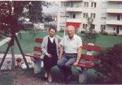 P. Pitter a O. Fierzová v Affoltern am Albis na konci 60. let.